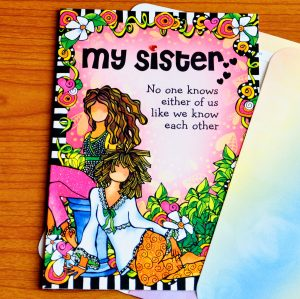My Sister greeting card outside