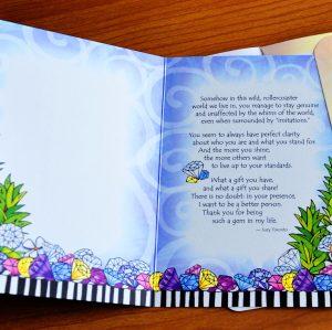Darling Daughter greeting card - inside