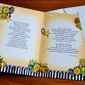 Son, I love you greeting card - inside