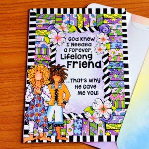 Lifelong Friend greeting card - outside