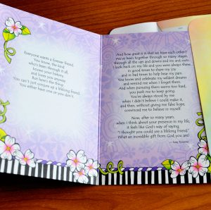 Lifelong Friend greeting card - inside