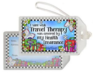 Travel Therapy - bag Tag