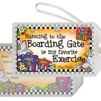 Running to the Boarding Gate is my favorite Exercise (Therapy) – Bag Tag