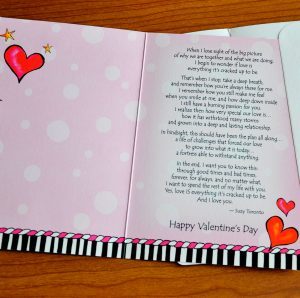 Love is Everything valentine's greeting card - inside