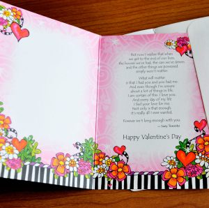 Forever my always valentine's greeting card - inside