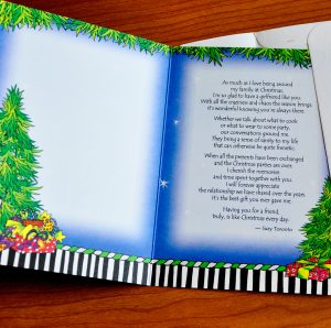 Friend at Christmas Greeting card - inside