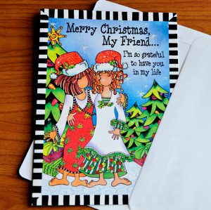 Friend Christmas greeting card - outside
