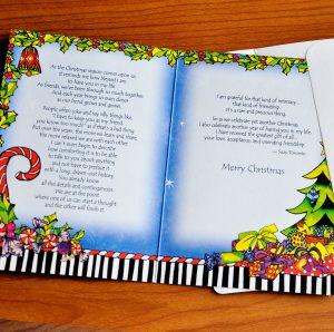 Friend Christmas greeting card - inside
