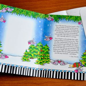 Angels at Christmas greeting card - inside