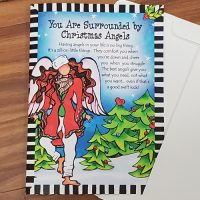 You Are Surrounded by Christmas Angels – Christmas Greeting Card