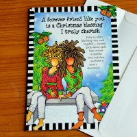 A forever friend like you is a Christmas blessing I truly cherish – Christmas Greeting Card