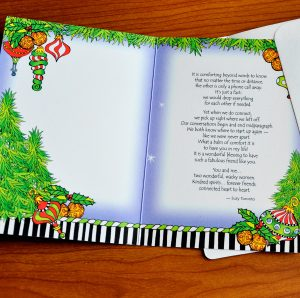 Girlfriend Christmas greeting card - inside