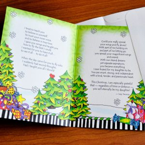 Daughter Christmas greeting card - inside