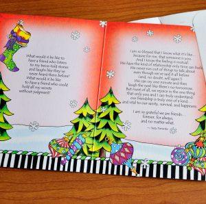 Christmas greeting card - inside