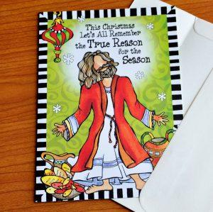 Reason for the Season Christmas Greeting card - Outside