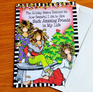 Girlfriend Christmas greeting card - outside