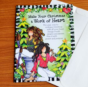 Work of Heart Christmas greeting card - outside