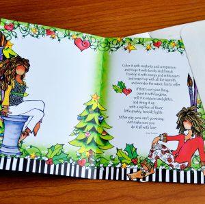 Work of Heart Christmas greeting card - inside