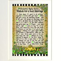 "Wonderful Wacky Words… Wisdom for a Good Marriage (Irish/Celtic) – 8 x 10 Matted ""Gifty"" Art Print"