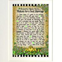 "Wonderful Wacky Words… Wisdom for a Good Marriage (Irish/Celtic) – 8 x 10 Matted ""Gifty"" Art Print"