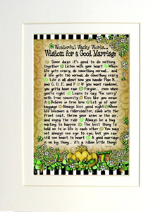 Matted Good Marriage art print