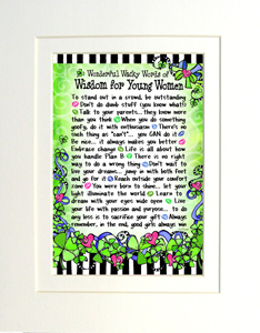 Matted wisdom for young women art print