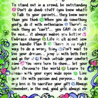 "Wonderful Wacky Words of Wisdom for Young Women (Irish/Celtic) – 8 x 10 Matted ""Gifty"" Art Print"