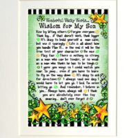"Wonderful Wacky Words… Wisdom for My Son (Irish/Celtic) – 8 x 10 Matted ""Gifty"" Art Print"