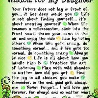"Wonderful Wacky Words of Wisdom for My Daughter (Irish/Celtic) – 8 x 10 Matted ""Gifty"" Art Print"