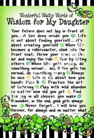 Wisdom for my daughter art print