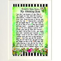 "Wonderful Wacky Words… Wisdom for My Amazing Mom (Irish/Celtic) – 8 x 10 Matted ""Gifty"" Art Print"