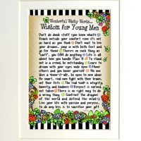 "Wonderful Wacky Words… Wisdom for Young Men (Irish/Celtic) – 8 x 10 Matted ""Gifty"" Art Print"