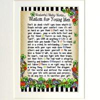 "Wonderful Wacky Words… Wisdom for Young Men (Irish/Celtic) – 8 x 10 Matted ""Gifty"" Art Print"