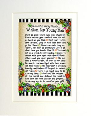 Matted wisdom for young men art print