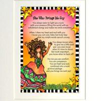 "She Who Brings Me Joy – 8 x 10 Matted ""Gifty"" Art Print"