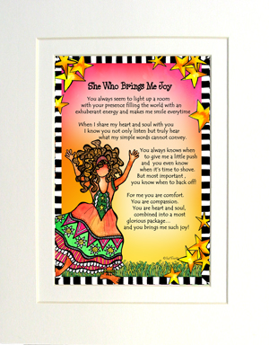 Brings Joy art print matted