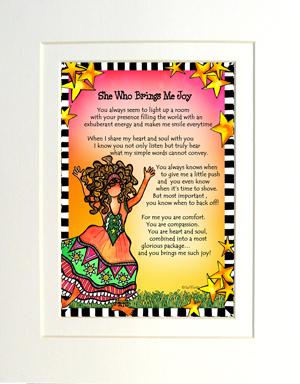 Brings Joy art print matted