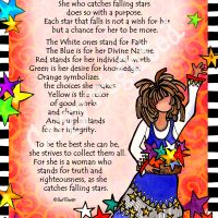 """She Who Catches Falling Stars – 8 x 10 Matted """"Gifty"""" Art Print"""