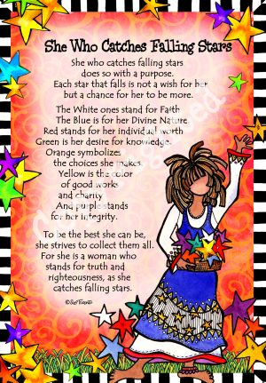 Catches Falling Stars art print