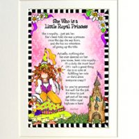 """She Who is a Little Royal Princess – 8 x 10 Matted """"Gifty"""" Art Print"""