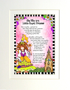 Royal Princess it art print matted