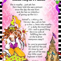 "She Who is a Little Royal Princess – 8 x 10 Matted ""Gifty"" Art Print"