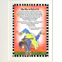"""She Who is Full of It – 8 x 10 Matted """"Gifty"""" Art Print"""