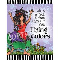 Life is a Test, & You're Passing it with Flying Colors. — (Embrace life) Note Cards
