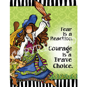 courage is a brave choice note card