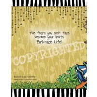 Breathe in Confidence …exhale fear — (Embrace life) Note Cards