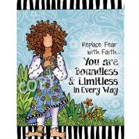 Replace Fear with Faith… You are Boundless & Limitless in Every Way — (Embrace life) Note Cards