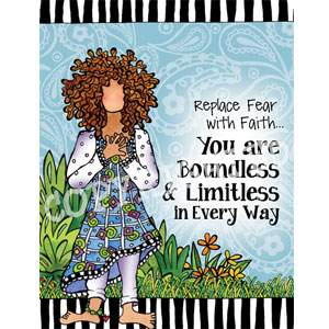 boundless and limitless note card