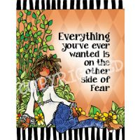 Everything you've ever wanted is on the other side of Fear — (Embrace life) Note Cards
