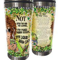 NOT until I've had my coffee… my magic happy potion, my Liquid Irish Luck (Irish/Celtic) – Stainless Steel Tumbler